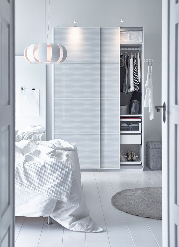 Zeitgenössisches Design Garderobe in Weiß-Hochwertige Kleiderschränke für das Schlafzimmer