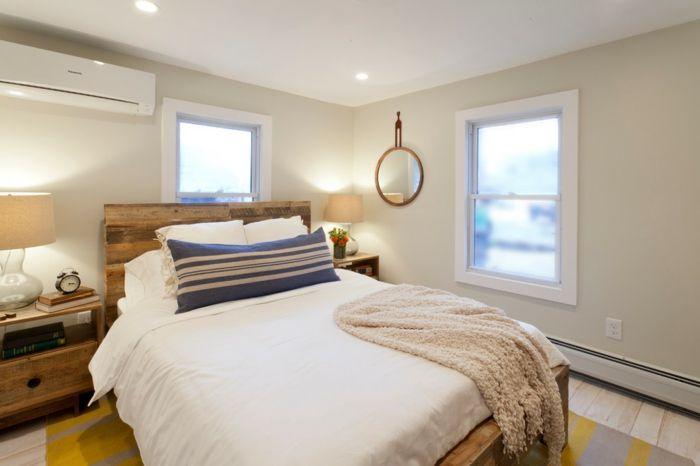 Zeitgenössisches Schlafzimmer-DIY Kopfteil Europalette