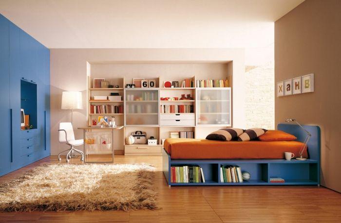 Zimmereinrichtung in warmen Farben-Feng Shui Kinderzimmer Jugendzimmer