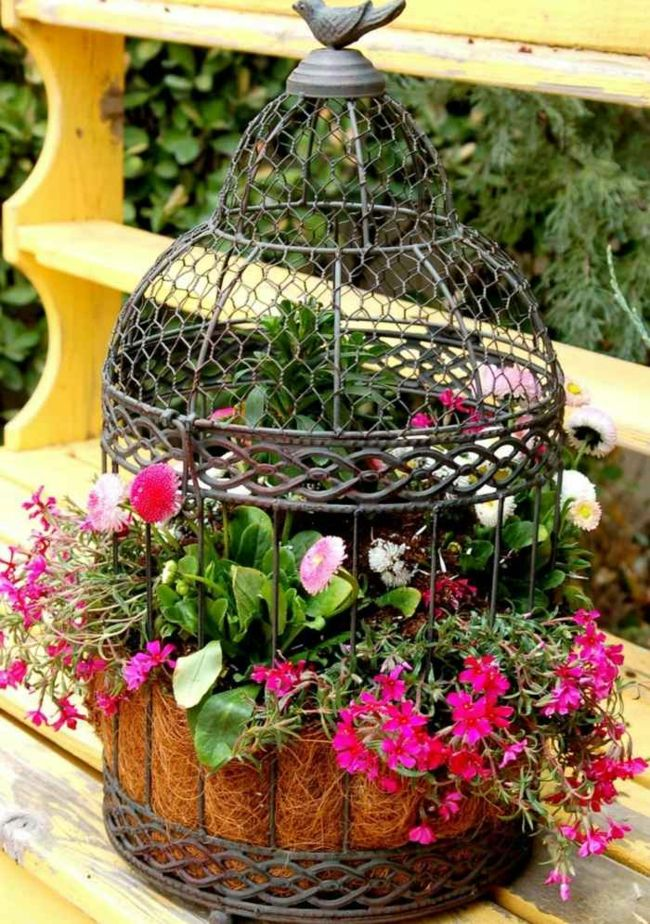 alte Gegenstände als Gartendeko verwenden Gartendeko - Ideen