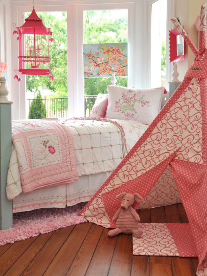 florale Motive und Kinderzelt-Jugendschlafzimmer Mädchen