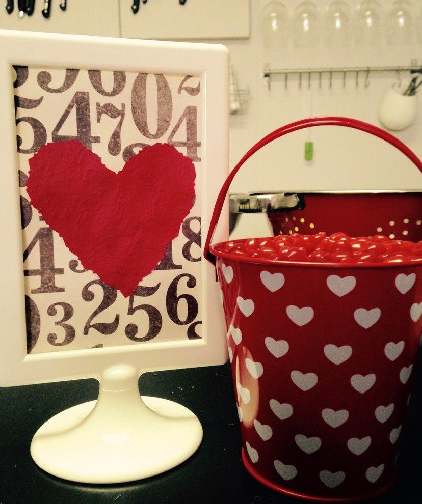 kleine rote Dekoartikel-Valentinstag Interieur Dekor
