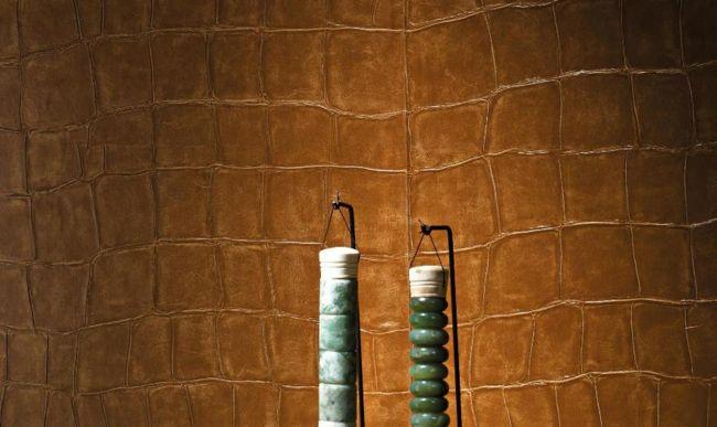 moderne Tapete in Leder-Look-moderne-deko-wand-tapete