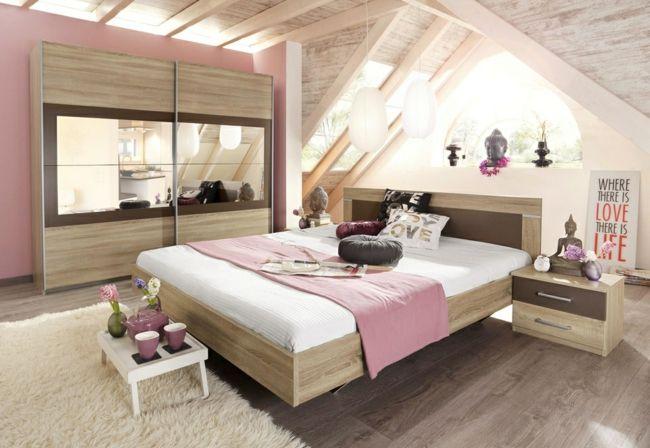 modernes Schlafzimmer in Nudefarben, Möbel aus Holz, Buddahfigur-möbel design