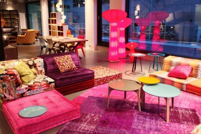 modulare Sofas, bunt, stilvolles Ambiente-Einrichtungstrends