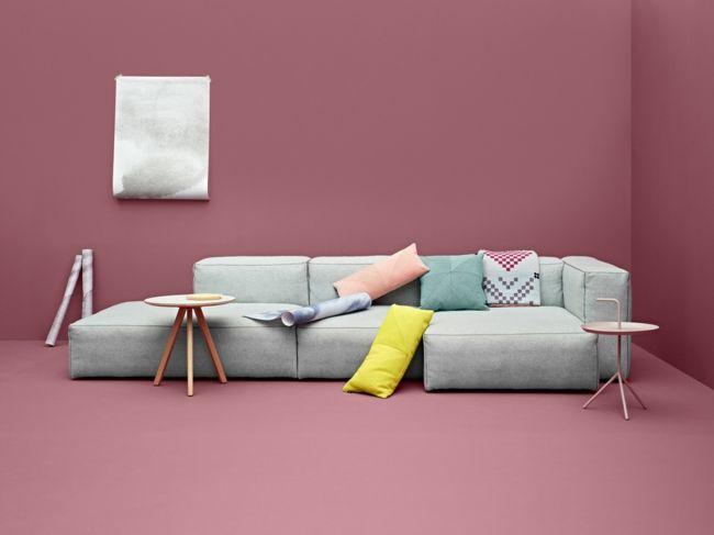 modulare Sofas in Grau-Einrichtungstrends