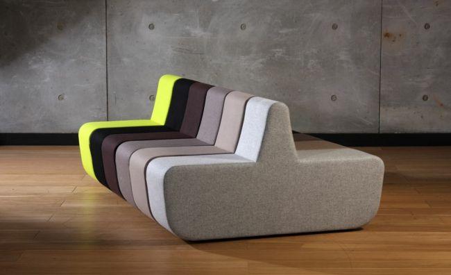 modulare Sofas in verschiedenen Farben-Einrichtungstrends
