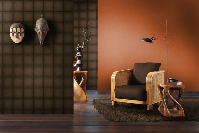 stillvolles Ambiente durch moderene Tapeten und exklusive Gegenstände-moderne-deko-wand-tapete
