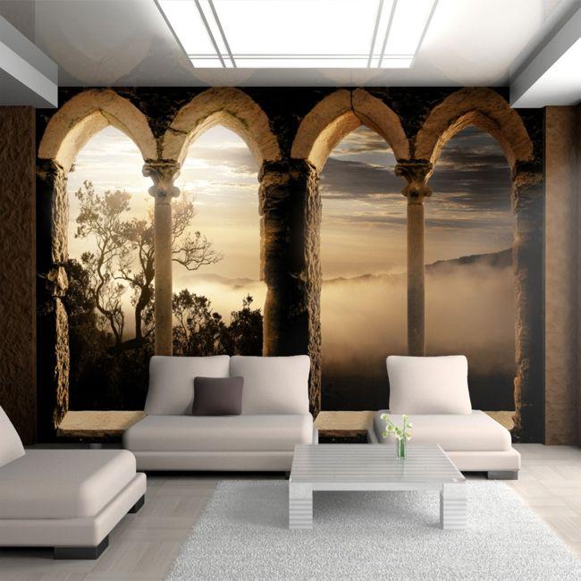 stilvolles Ambiente in den eigenen vier Wänden durch Tapete-moderne-deko-wand-tapete