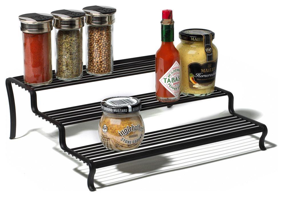 von Gewürzen und Saucen-Treppenartige Aufbewahrung Organisation Küchenzubehör Lagerung