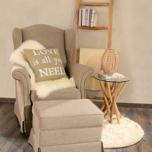 weicher Teppich sorgt für mehr Gemütlichkeit zuhause-Wohnaccessoires Ideen
