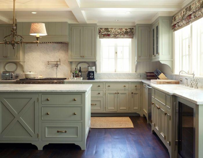 Abgetönte Pastellfarben stehen in diesem Jahr voll im Trend-Küchenplaner Küchendesign Pastellfarben Holzboden