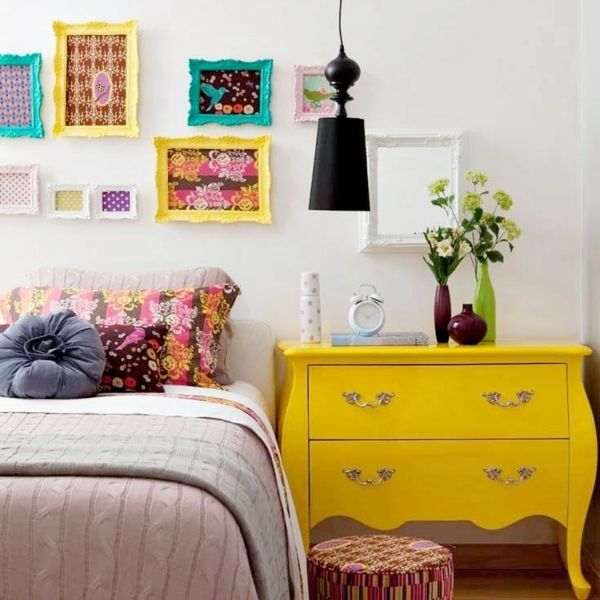 Akzente im Schlafzimmer mit Farben setzen