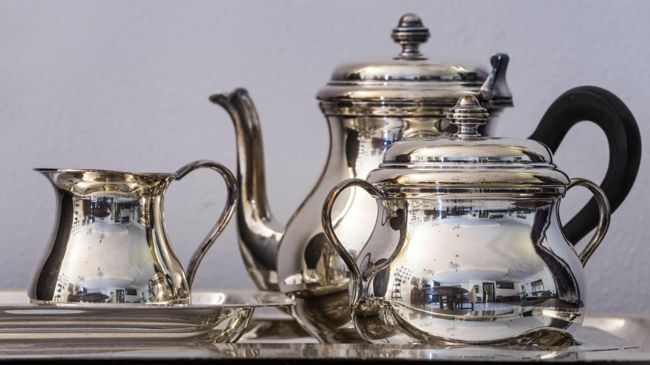 Antikes Silber Silberkanne Tee