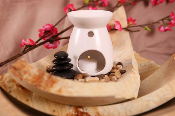 Aromaöl Aromatherapie Duftlampe weiß
