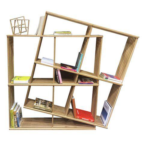 Asymmetrische Möbel Bücherregal Holz