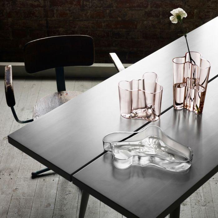 Außergewöhnliche Eleganz und Funktionalität des eingeblasenen Glas-Aalto Vase Klassiker Dekoration Wohnaccessoires