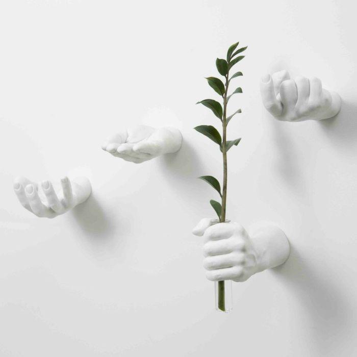 Außergewöhnliche Handformen als Wandhalter oder Kunstobjekte-Wandhaken Kunstharz Marmor Dekoration