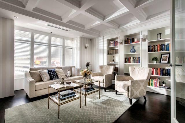 Bücher für Farbe ins Wohnzimmer-klassisch Wohnzimmer Bücherregale weiß offen