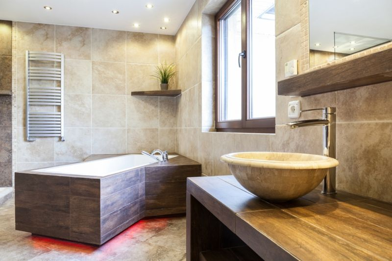 Badezimmer gestalten Eckwanne