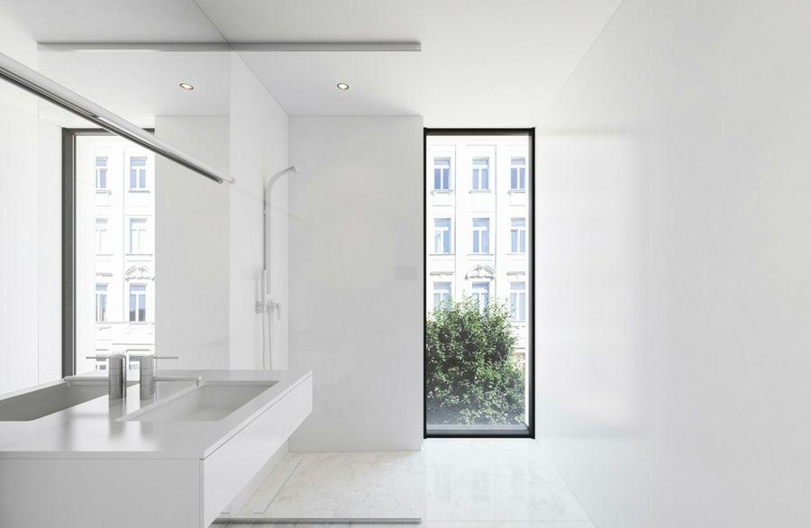 Badezimmer schlicht Weiß Marmor