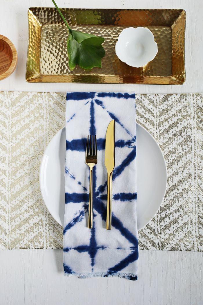 Batiken Tie-Dye trendige Stoffservietten