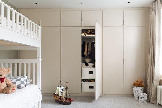 Bauhaus Look Einbauschrank Doppelstockbett Beige