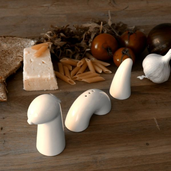 Besonderes Tisch-Accessoire-Salzstreuer einzigartig Porzellan