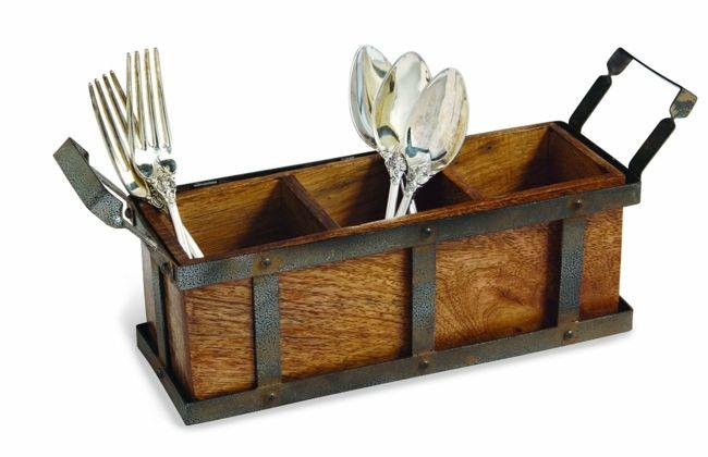 Besteckkasten Holz Retro Silberwaren