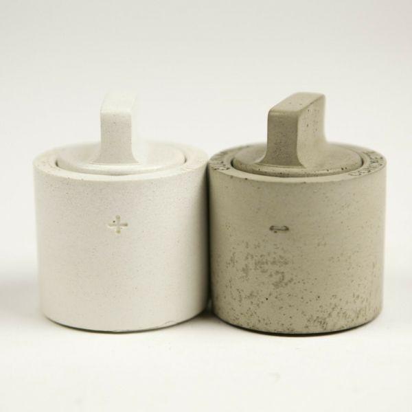 Betonartige Salz- und Pfefferbehälter-Gewürzdosen