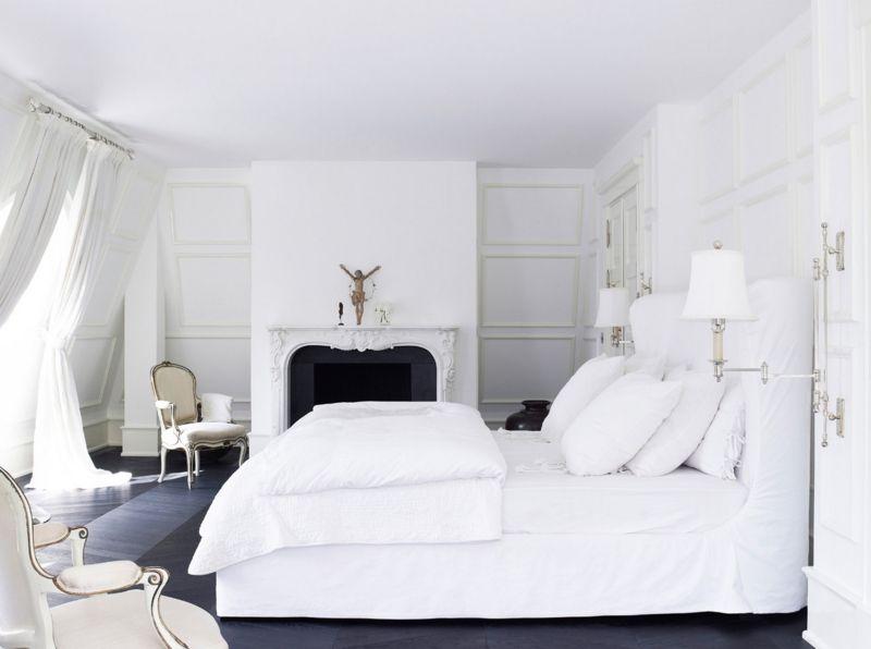 Bett Design skandinavischer Stil weiß