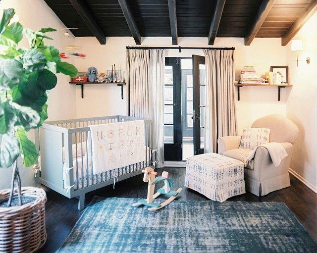 Bett mti Umbaufunktion-Gitterbett Babydecke weiß blau