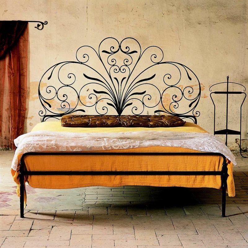 Bettrahmen toskanisches Design Vintage Schlafzimmer