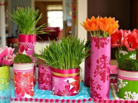 Blumen Kräuter arrangieren