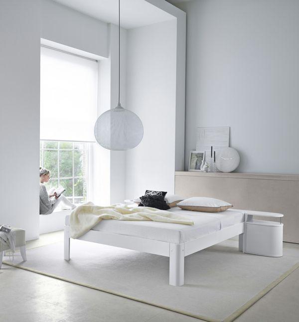 Bodenbelag-Fliesen-Schlafzimmer-weiß-beige-Bodenbelag-weiss-design