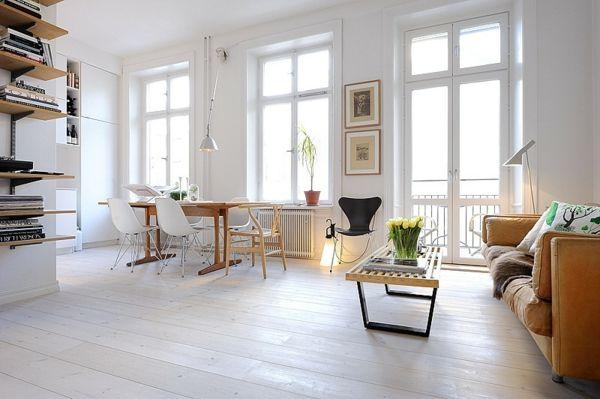 Bodenbelag weiß Wohnzimmer modern-Bodenbelag weiss design
