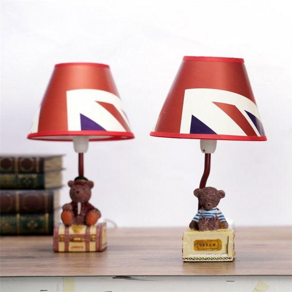 Britischer Flagge-Vintage Tischlampe