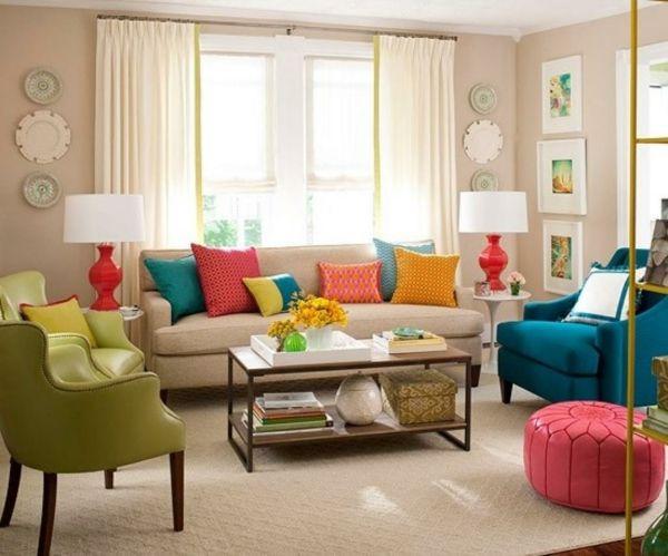 Bunte Möbel fürs Wohnzimmer