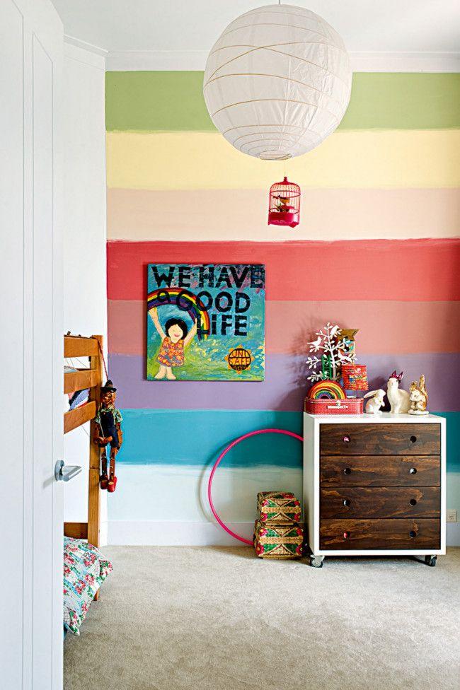 Bunte, poppige Wandfarben für gute Stimmung-Kinderzimmer Kommode