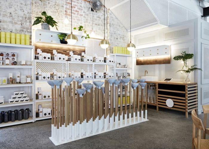 Den Effekt der Symmetrie und optische Verspieltheit erleben-Eklektisches Interieur Designer Pastellfarben