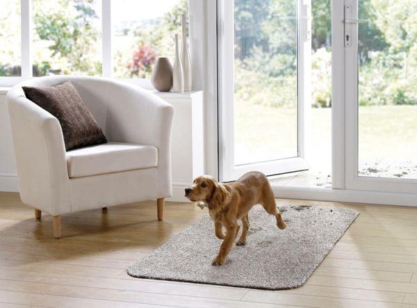 Der zuverlässige Begleiter im Haushalt mit antirutschiger Unterseite und schmutzfangenden Eigenschaften-Baumwollmatte