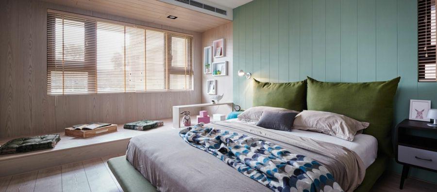 Designer Schlafzimmer minimalistisch asiatischer Stil