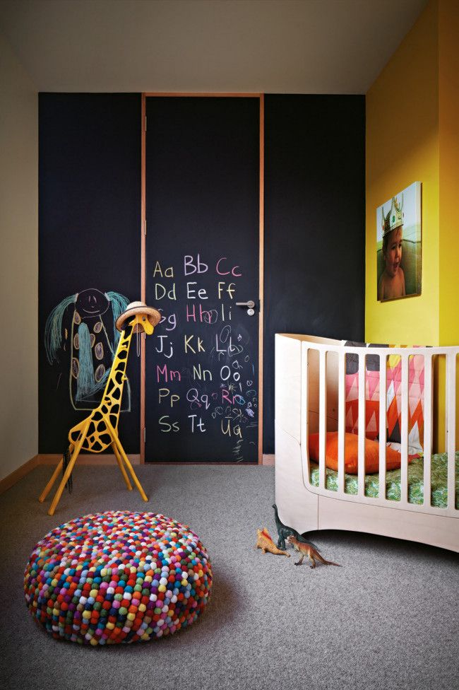 Die Tafelwand lässt das Kind ruhig darauf schreiben oder malen-Designer Tafelwand