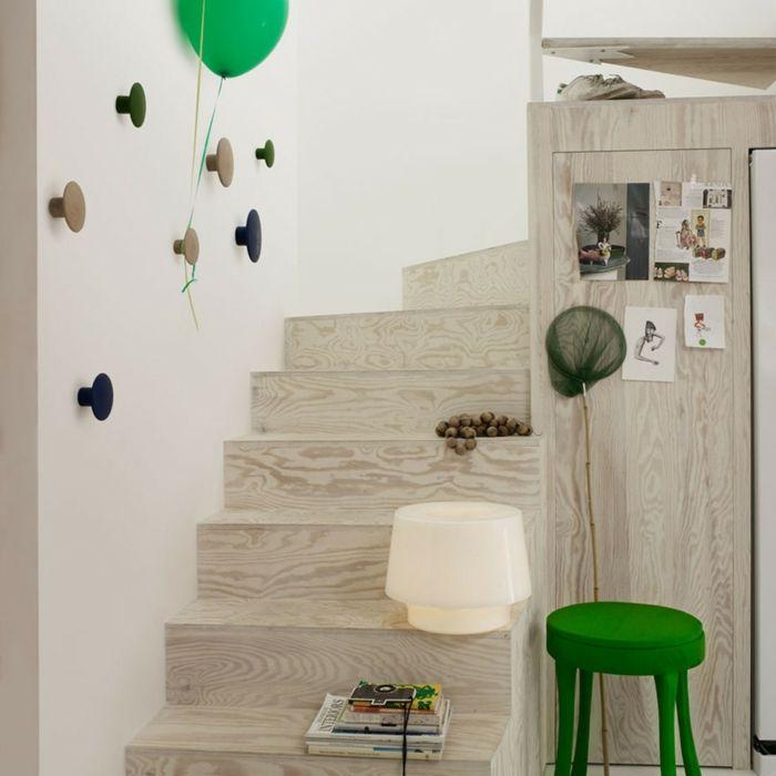 Die Wände könnten kinderleicht mit individuell angeordneten Wandhaken-Kleiderhaken Kleidung aufhängen Eingangsbereich Kinderzimmer