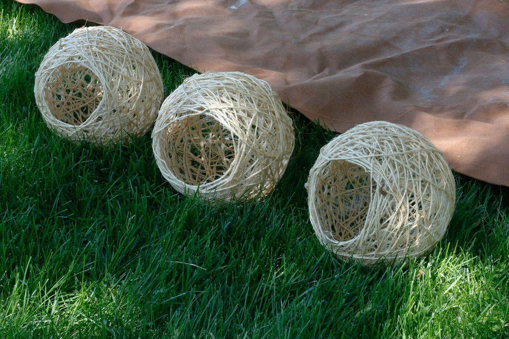 Die fertigen Kugelleuchten-Seilleuchten DIY
