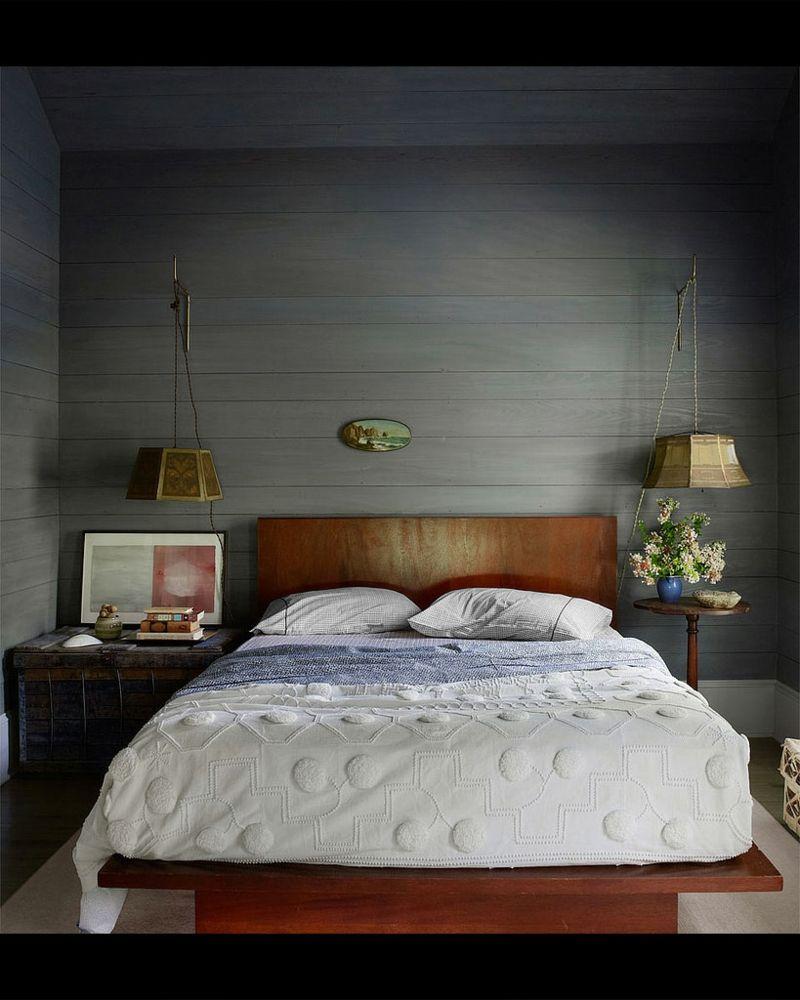 Doppelbett Dunkel Holz Retro