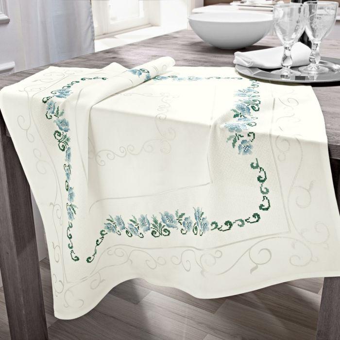 Edel dekorativ Stickerei elfenbein Baumwolle