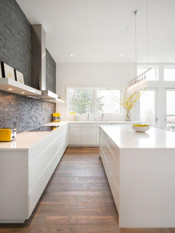 Eintönigkeit lieber vermeiden-Küchendesign modern weiß