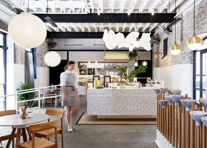 Eklektische Einrichtung und zarte Pastellfarben erzeugen die angenehme Atmosphäre-Teebar Australien