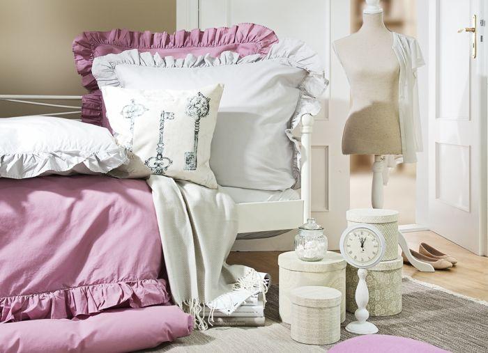 Für den charmanten, französischen Nostalgie-Flair sind Pastellfarben sehr typisch-Idee zum Wohnen
